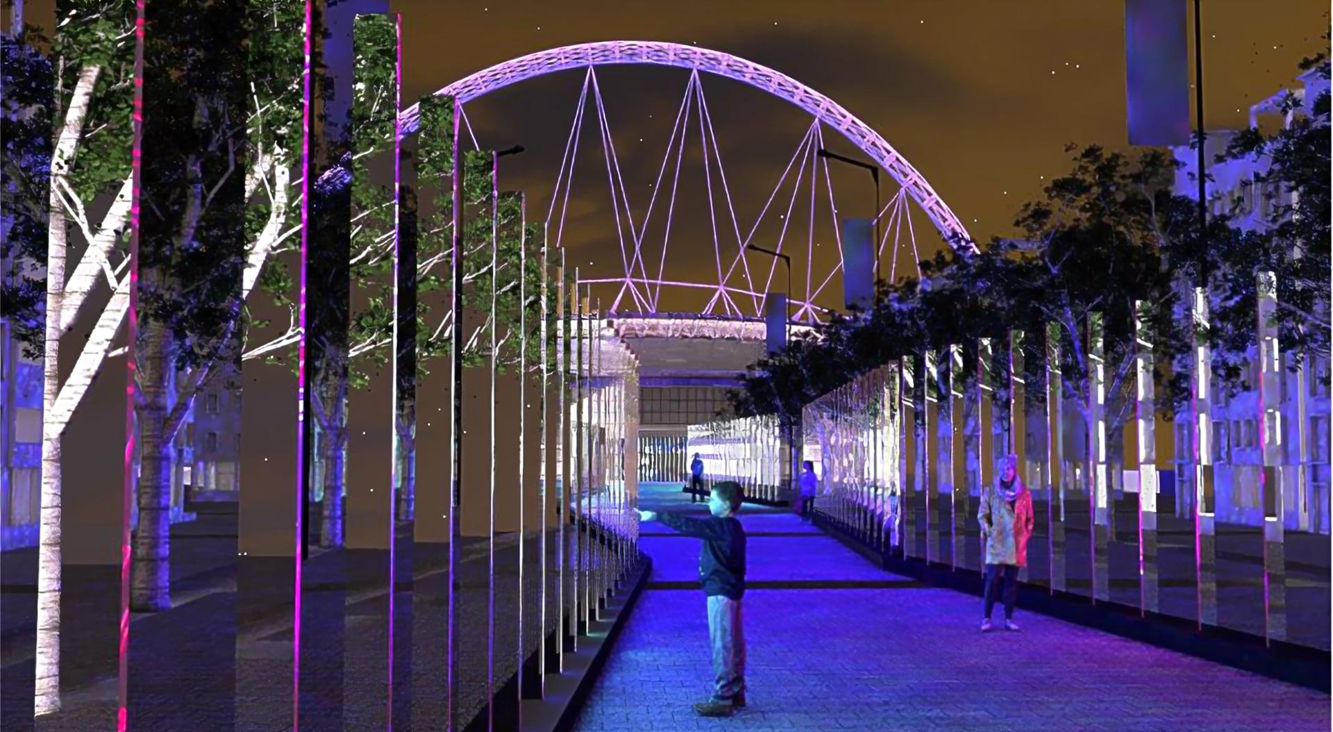 Wembley mirror walk