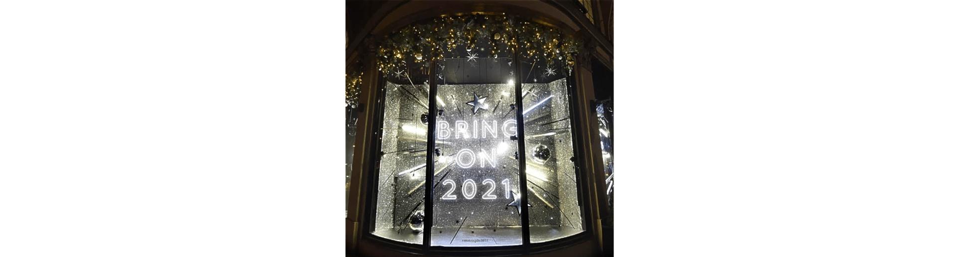 window display - bring on 2021